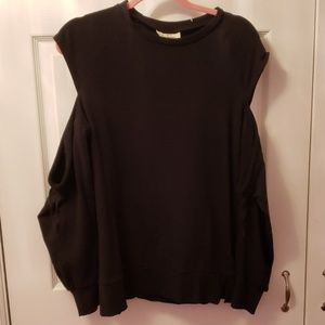 Black cold shoulder sweatshirt  Maternity
